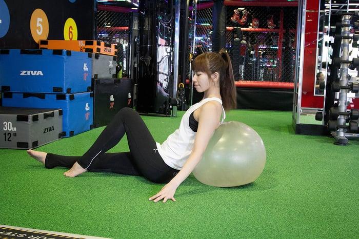 瑜伽球,健身房減肥