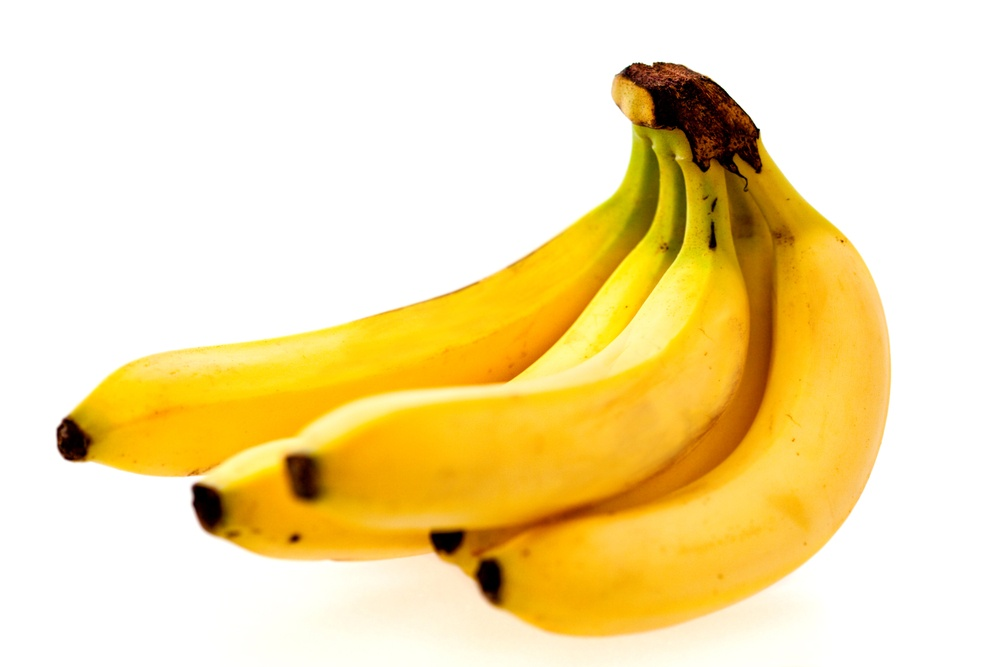 Bunch of bananas isolated over a white background