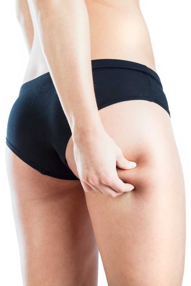 Close-up of female legs without cellulite