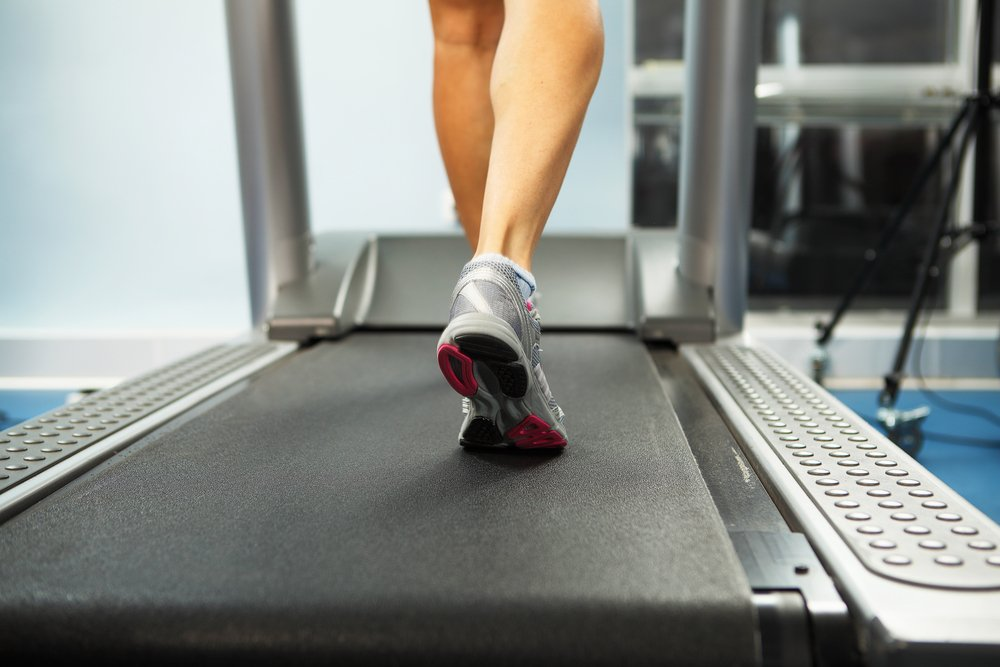 Image of female foot running on treadmill-2