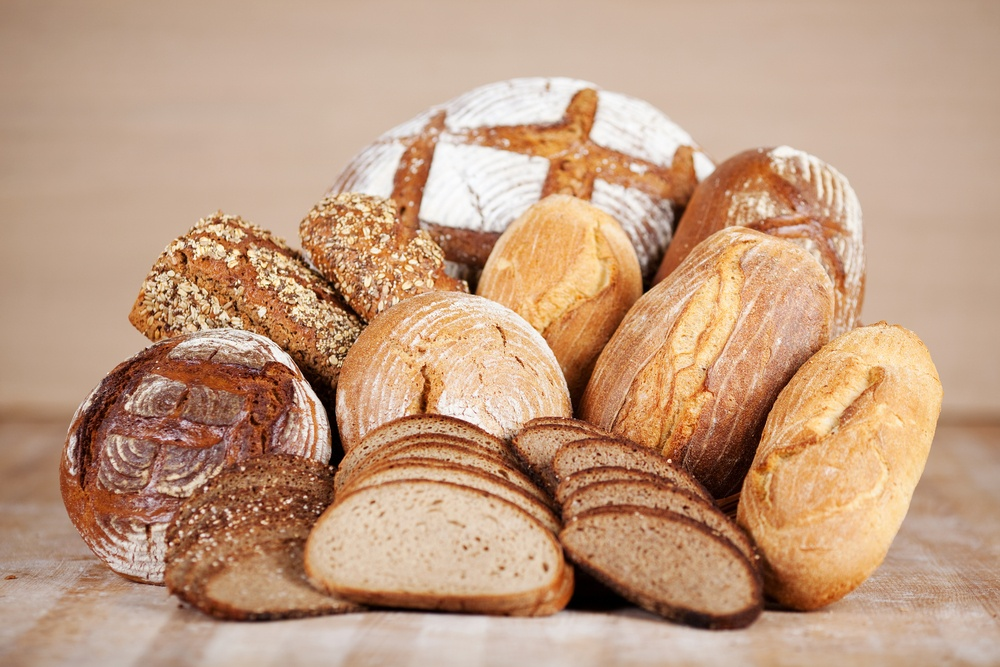 arrangement of different breads at the bakery